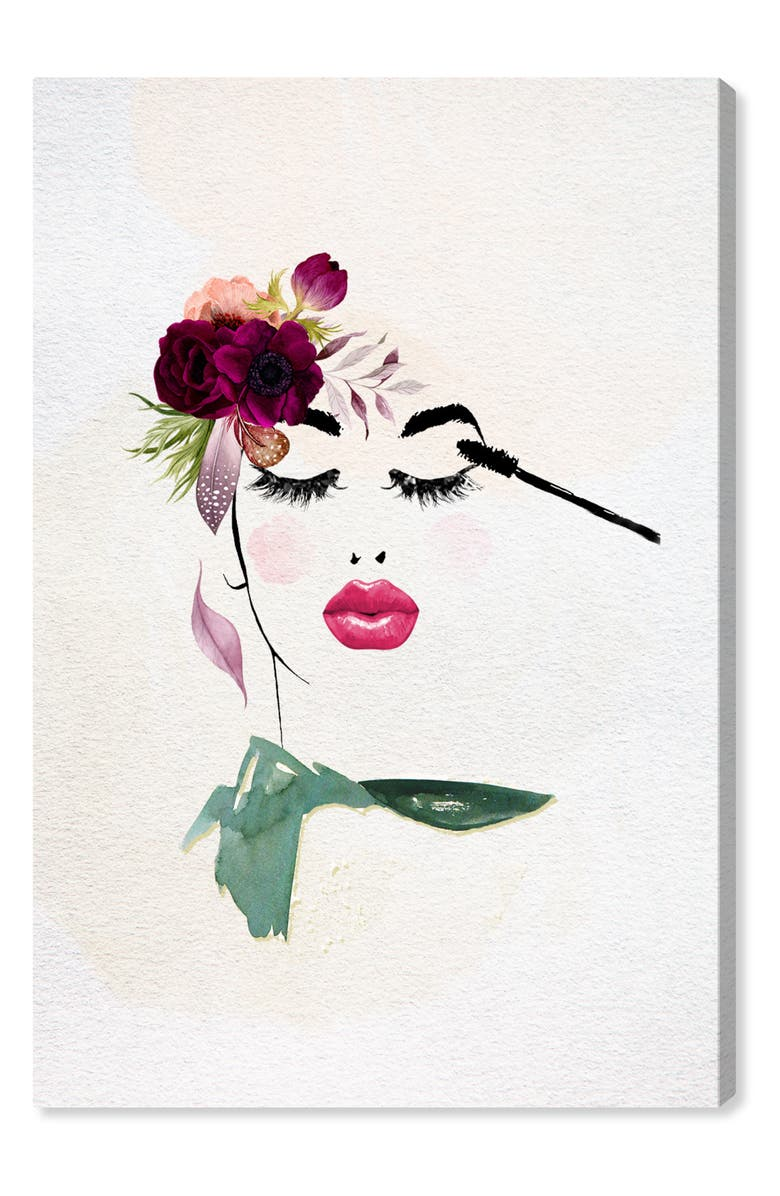 OLIVER GAL Ava's Dream Canvas Wall Art, Main, color, PINK