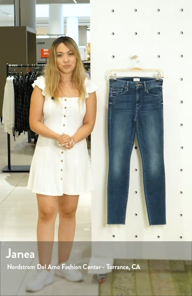 'The Looker' Frayed Ankle Jeans, sales video thumbnail