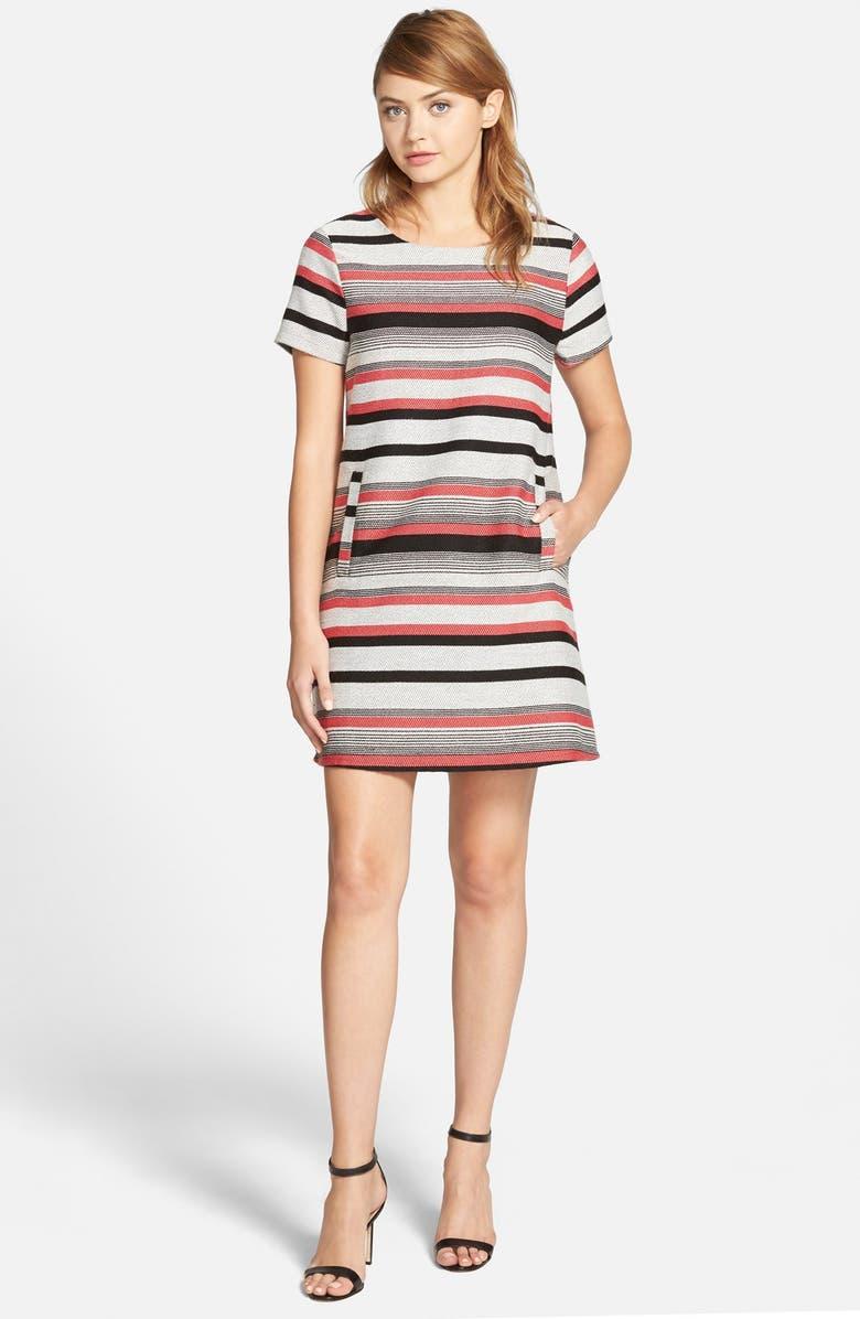 CUPCAKES AND CASHMERE 'Olvera' Stripe Mini Dress, Main, color, MULTI