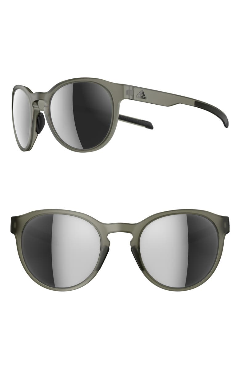 ADIDAS Proshift 52mm Mirrored Sport Sunglasses, Main, color, MATTE OLIVE/ CHROME
