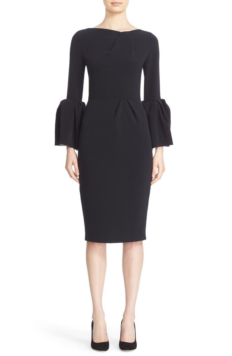 ROKSANDA Marwood Dress, Main, color, BLACK