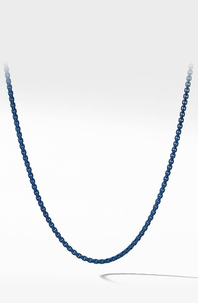 DAVID YURMAN Box Chain Necklace, 4mm, Main, color, STEEL