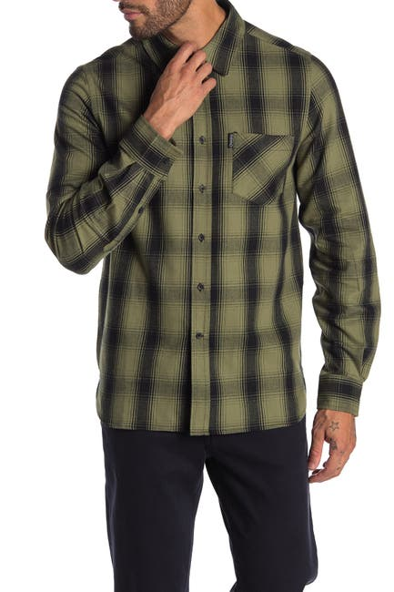 Image of OVADIA AND SONS Max Fornt Button Plaid Shirt
