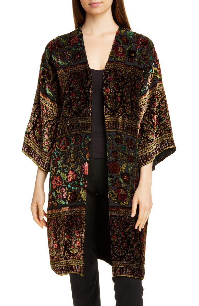 ETRO Velvet Devoré Jacket, Main, color, BLACK