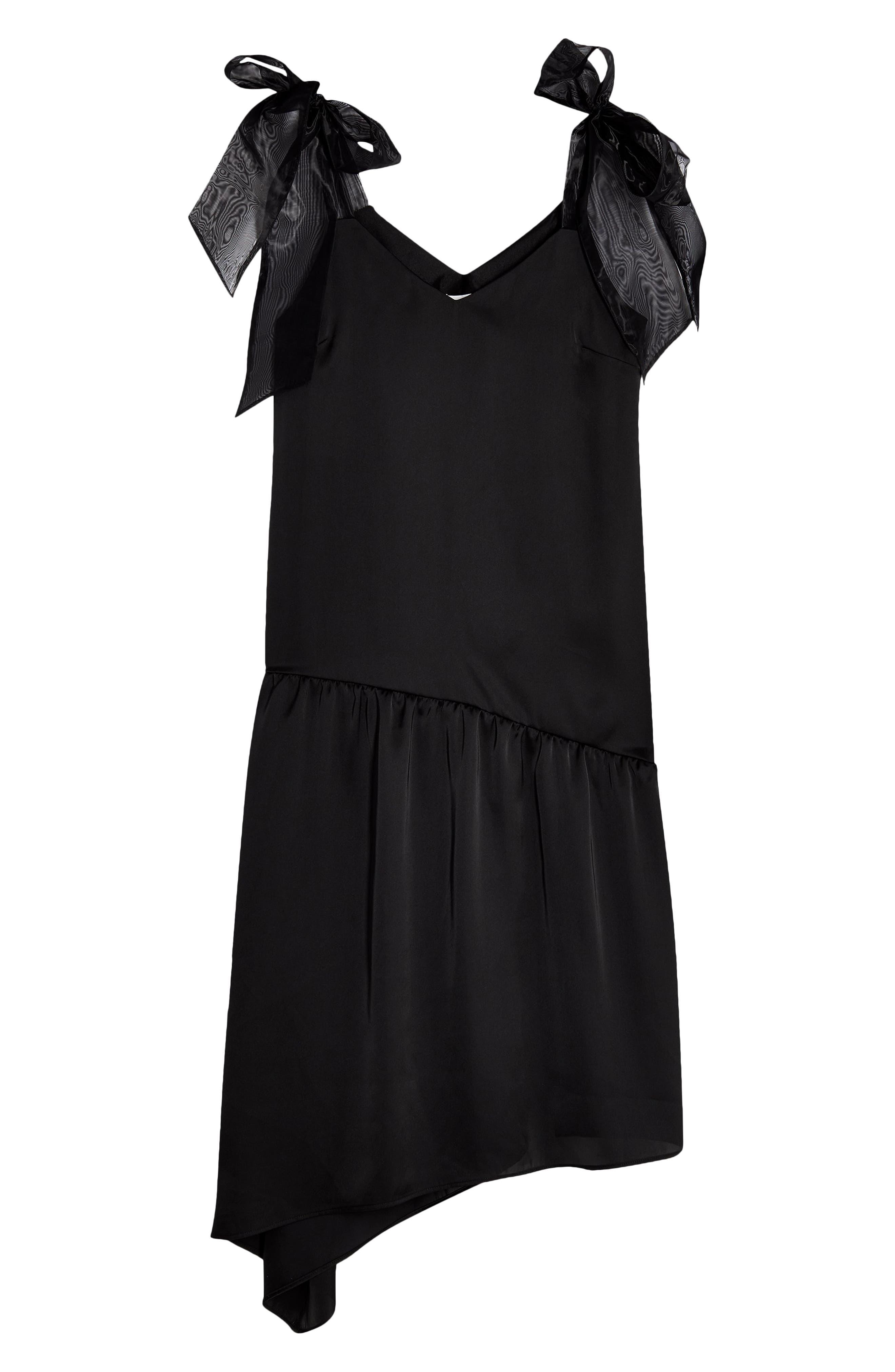 Flapper Dresses, Quality 1920s Flapper Dress Womens Topshop Organza Bow Slipdress Size 4 US - Black $49.99 AT vintagedancer.com