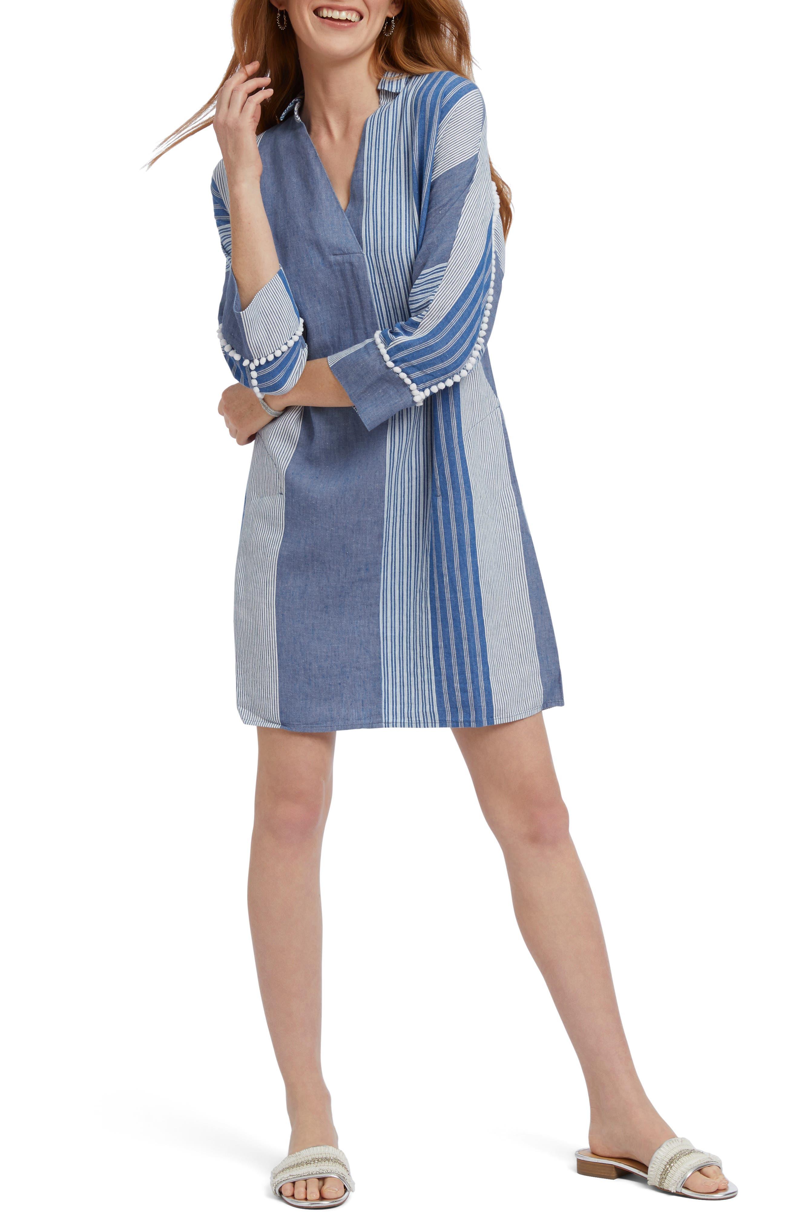 Nic+Zoe Fiji Shift Dress, Blue