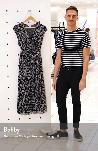 Floral Print Silk Wrap Dress, sales video thumbnail