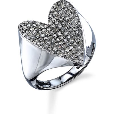 Sheryl Lowe Pave Diamond Heart Ring