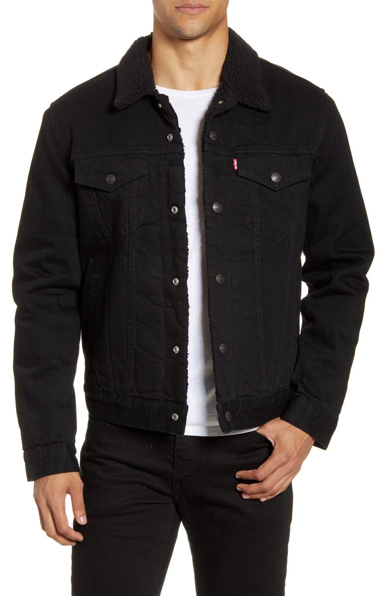 LEVI'S<SUP>®</SUP> Type III Faux Shearling Lined Denim Trucker Jacket, Main, color, BERK