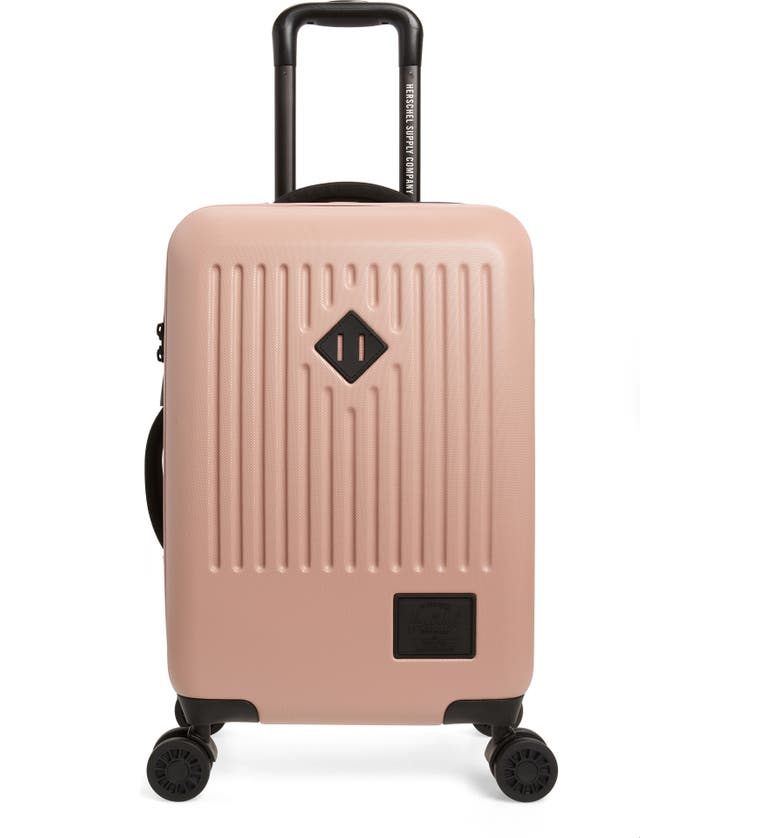 HERSCHEL SUPPLY CO. Small Trade 23-Inch Rolling Suitcase, Main, color, ASH ROSE