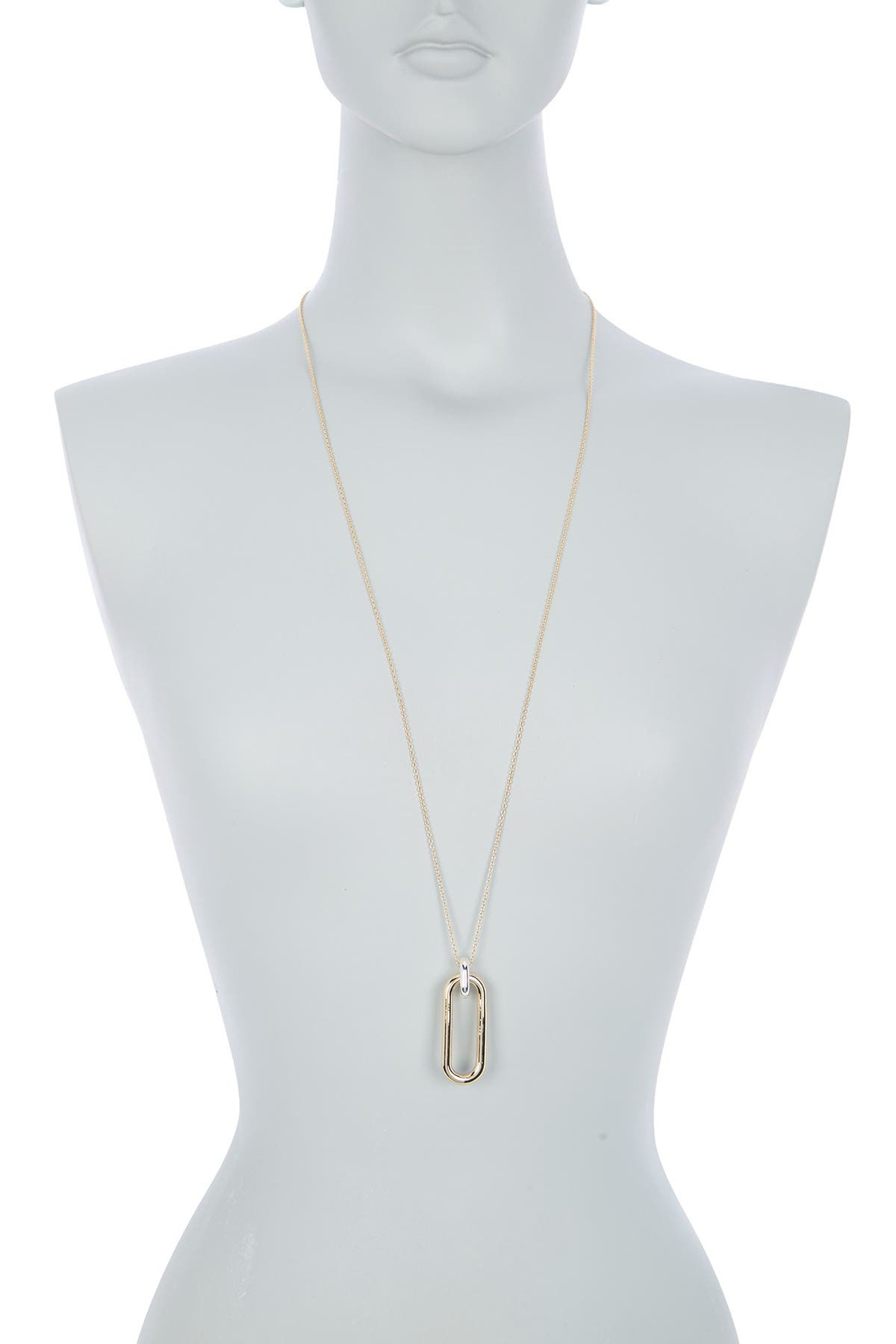 Image of DKNY Gold Link Pendant Necklace