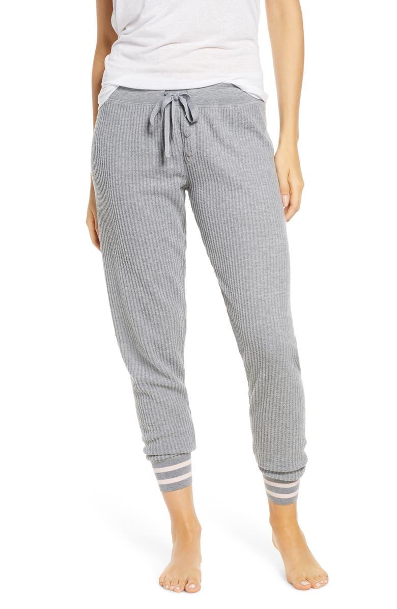 PJ SALVAGE Jammie Pajama Pants, Main, color, HEATHER GREY