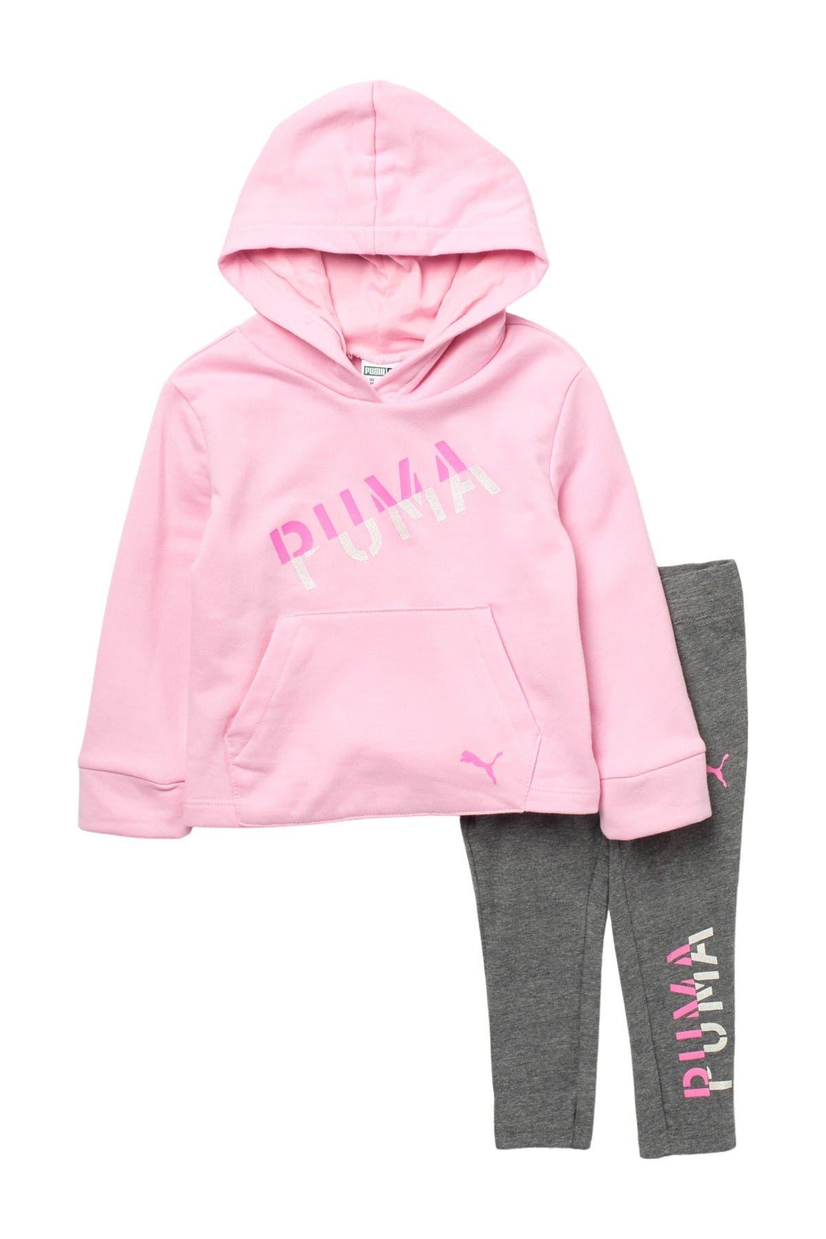 Image of PUMA Fleece Pullover Hoodie & Leggings Set