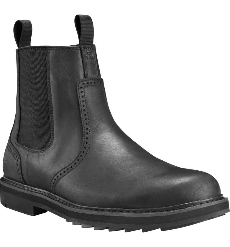 TIMBERLAND Squall Canyon Waterproof Chelsea Boot, Main, color, BLACK FULL GRAIN