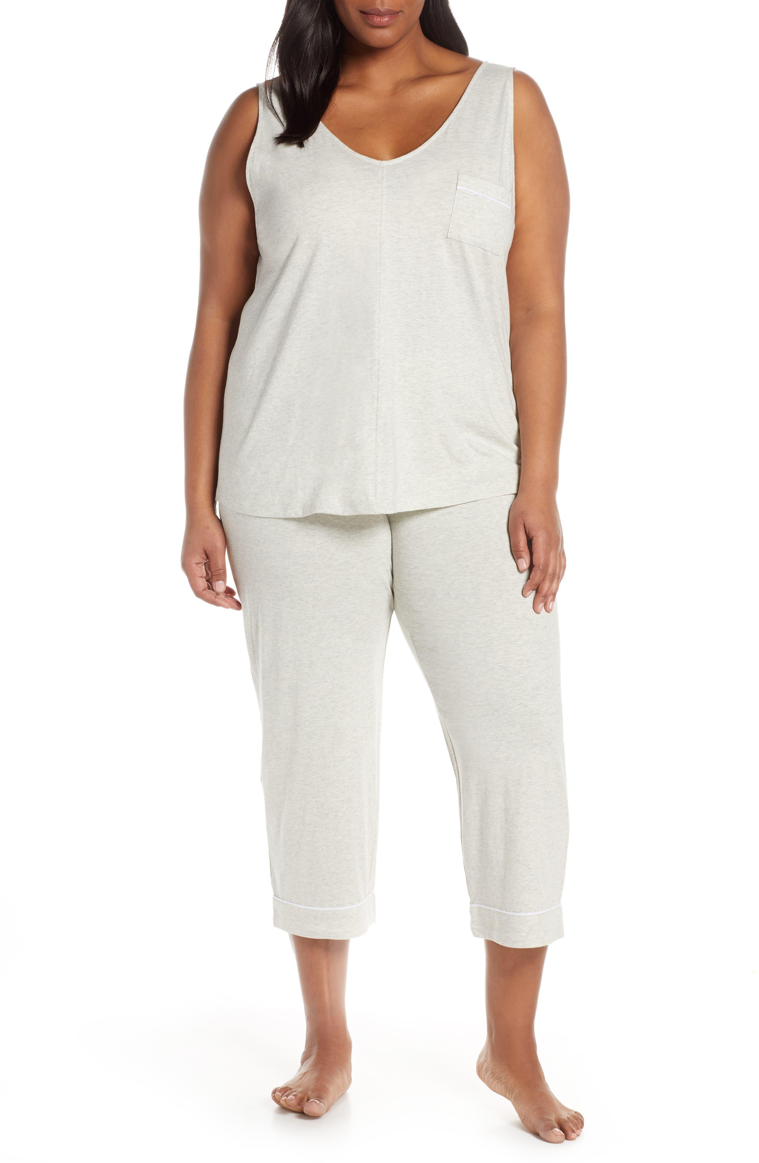Plus Size Nordstrom Lingerie Breathe Cotton Crop Pajamas