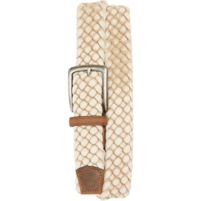 Torino Woven Cotton Belt, Cream