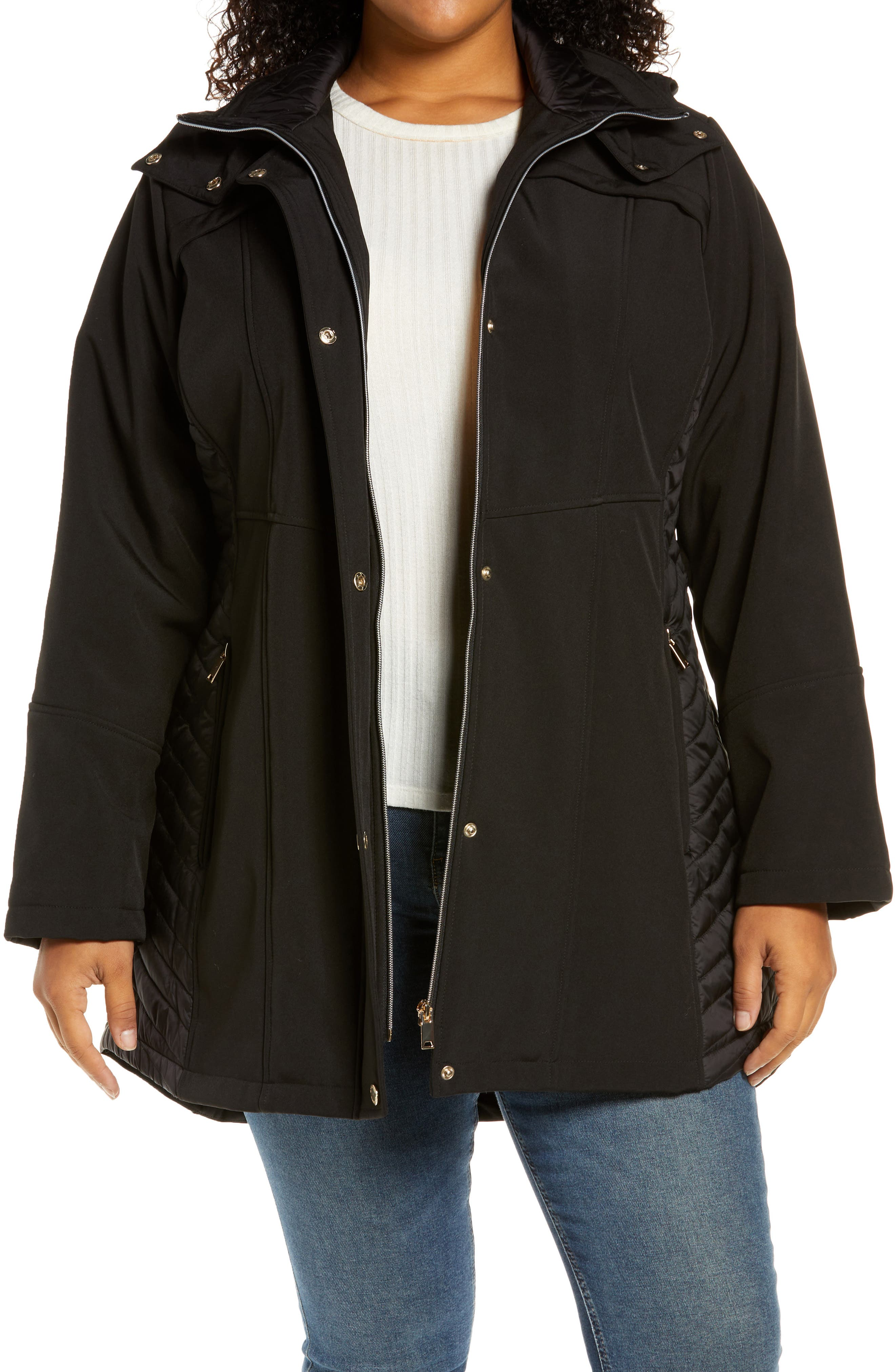 Soft Shell Jacket With Removable Hood
