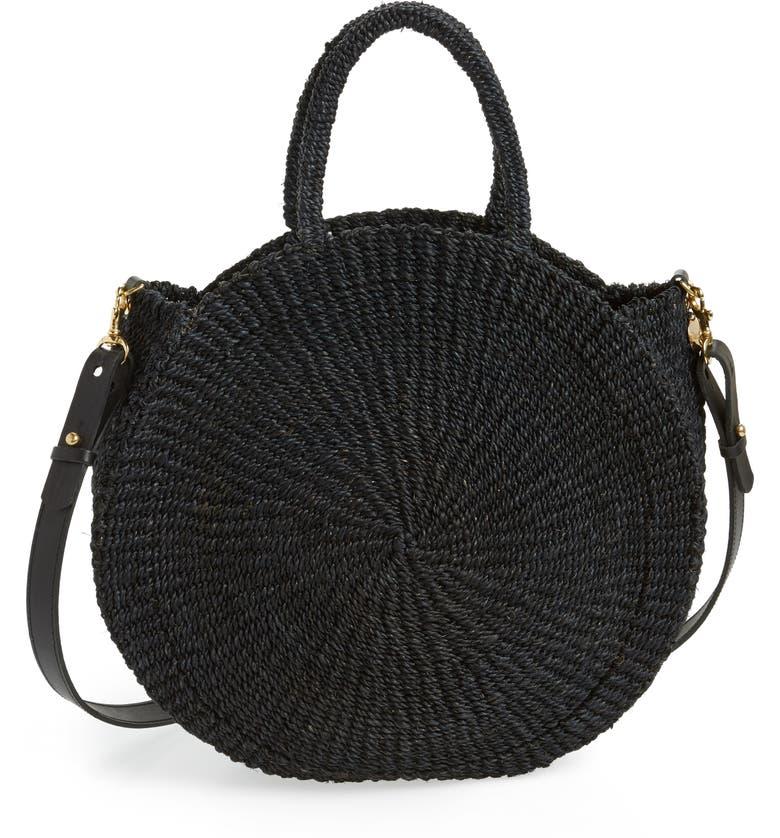 CLARE V. Alice Woven Sisal Straw Bag, Main, color, 001