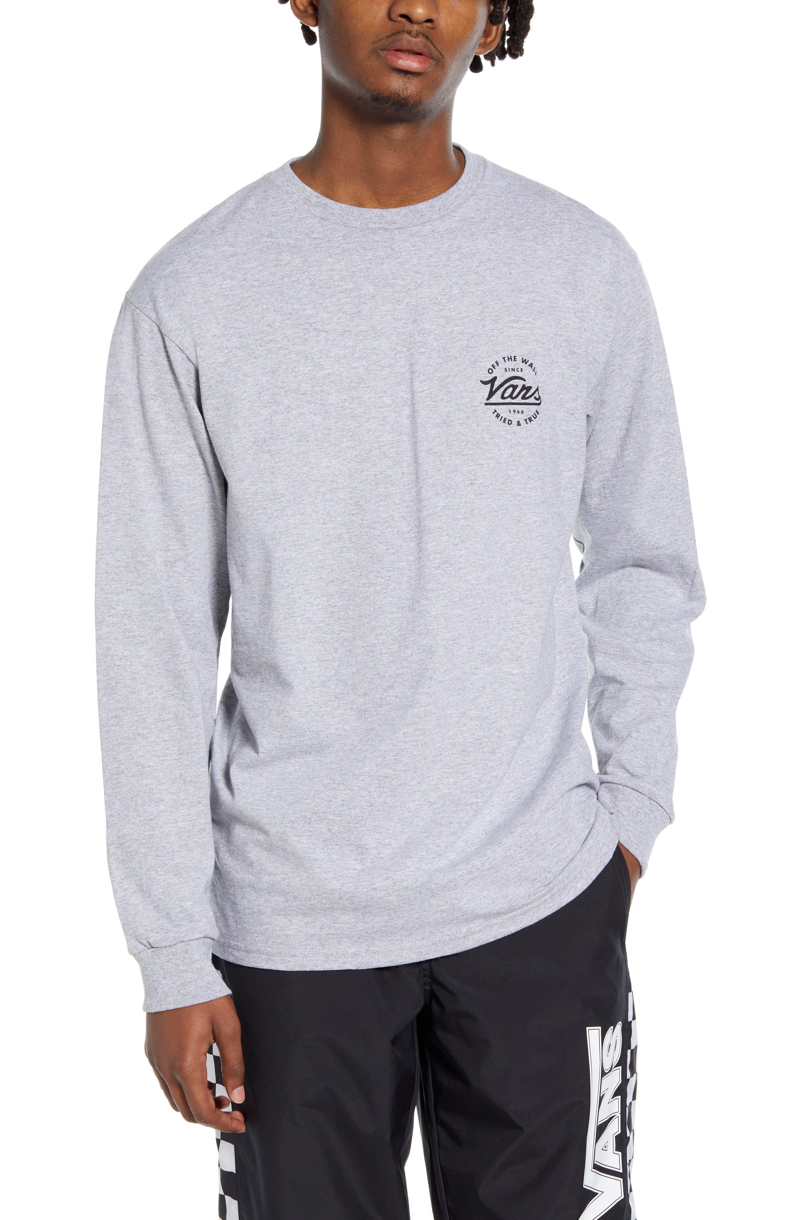 Vans Team Van Doren Long Sleeve T-Shirt, Grey