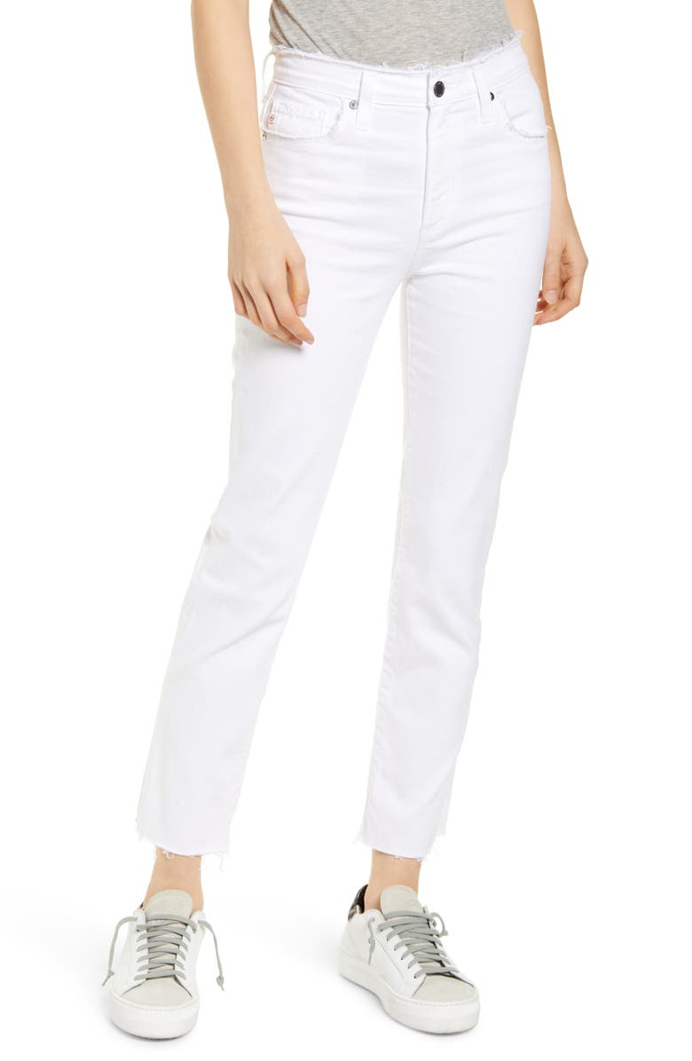 AG The Isabelle High Waist Ankle Straight Leg Jeans, Main, color, 103
