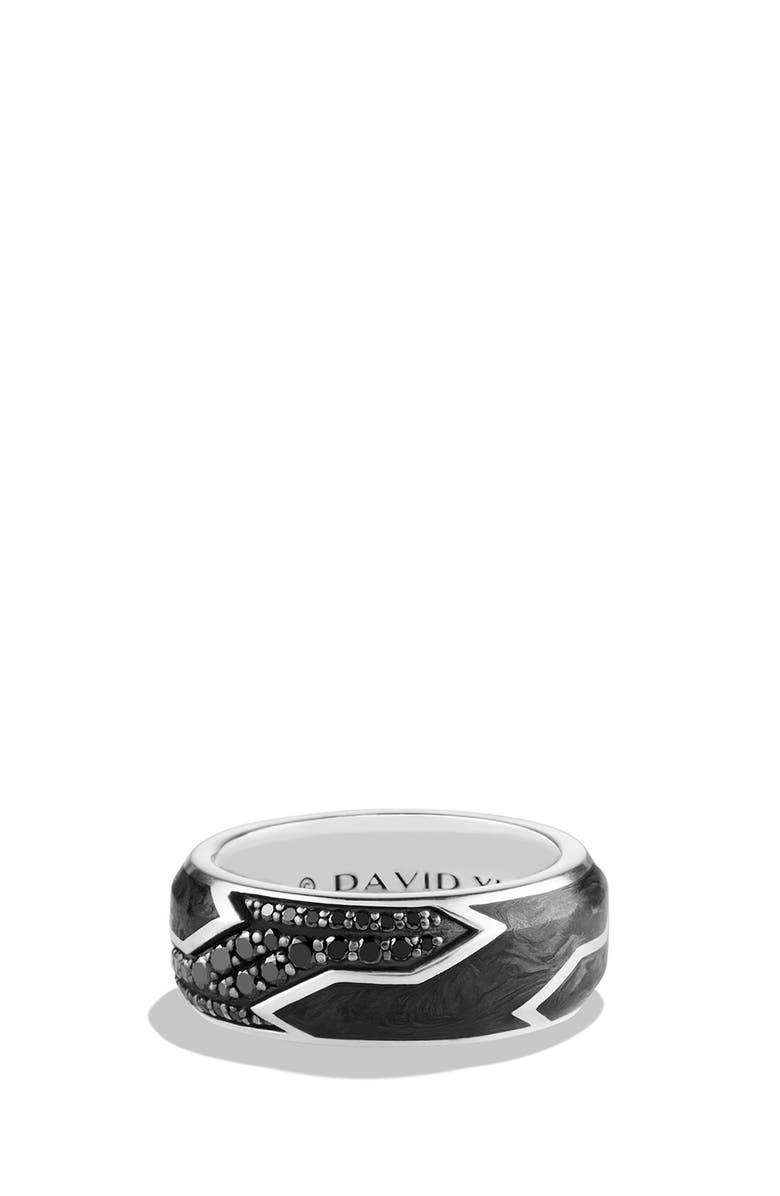 DAVID YURMAN Forged Carbon Ring, Main, color, BLACK DIAMOND