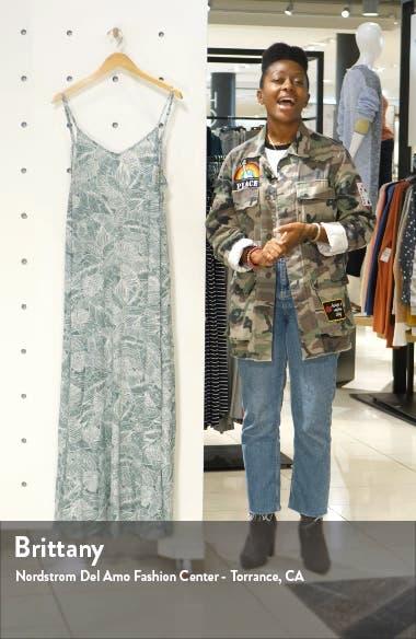 Jupiter Leaf Print Maxi Dress, sales video thumbnail