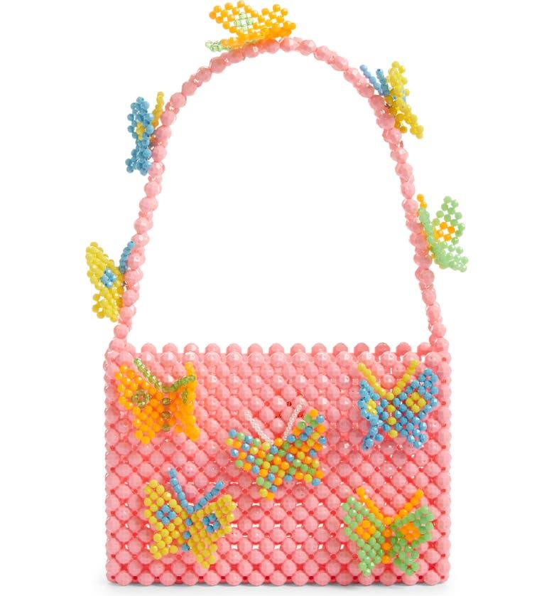 SUSAN ALEXANDRA Mini Mariposa Beaded Handbag, Main, color, 650