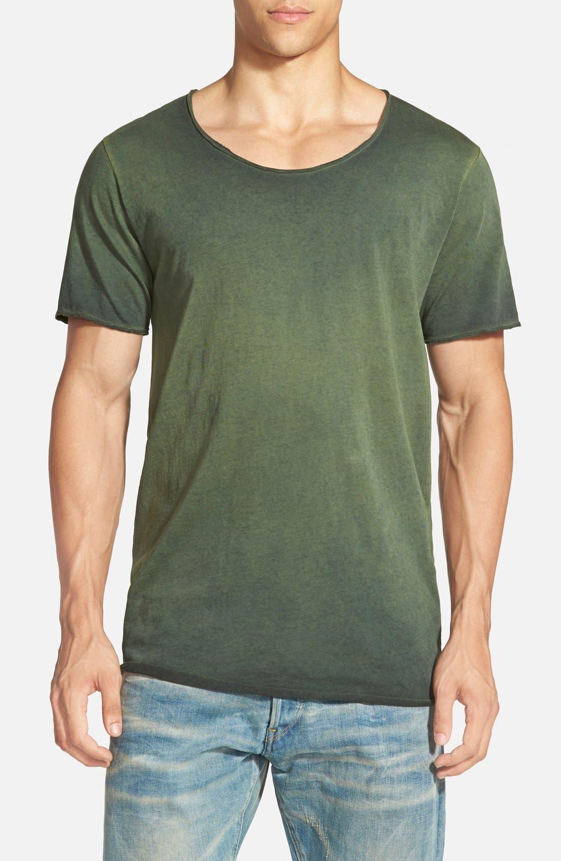 ,                             U-Neck T-Shirt,                             Main thumbnail 4, color,                             460