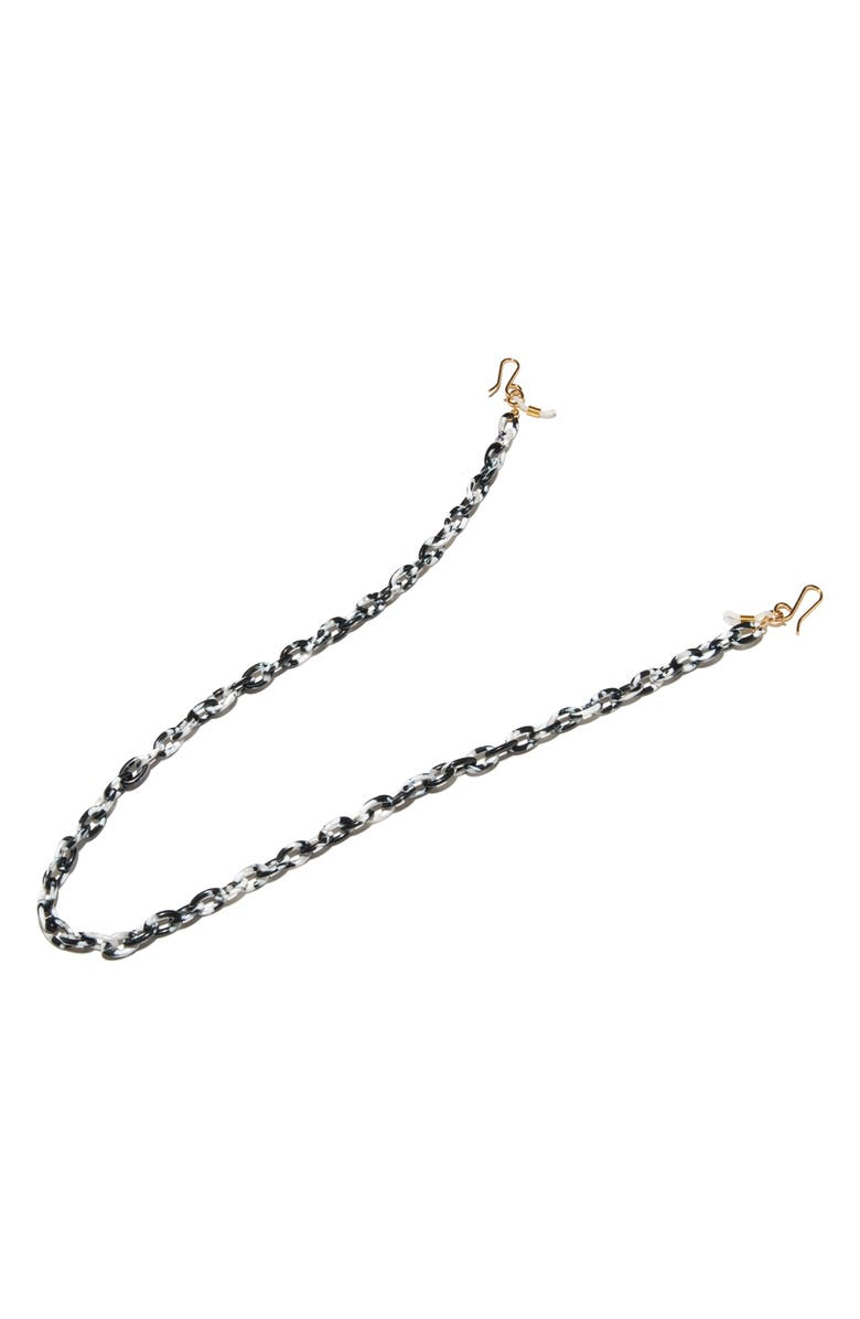 LELE SADOUGHI Eyeglass Cable Chain, Main, color, BLACK AND WHITE MARBLE