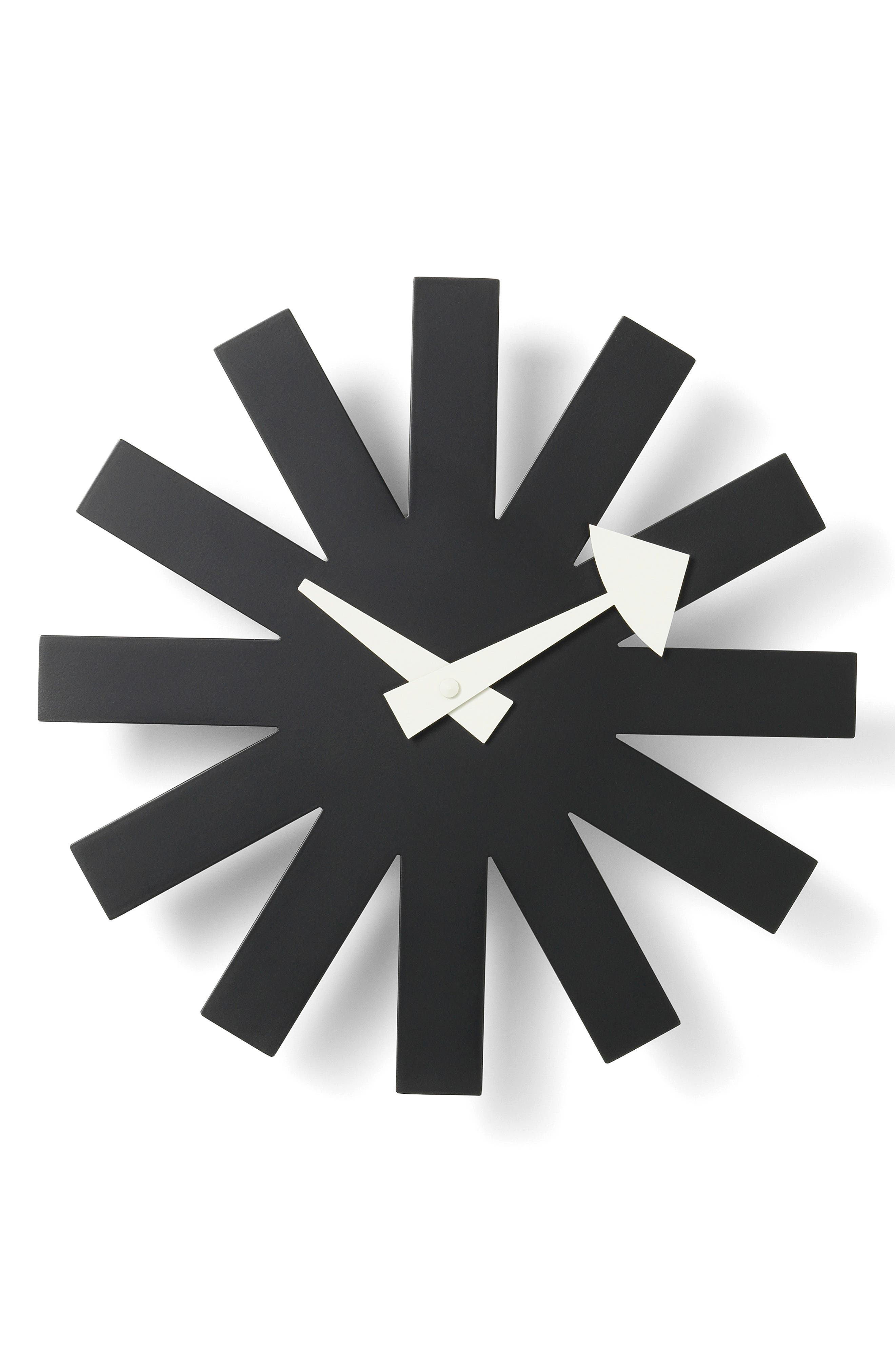 Asterisk Clock, Main, color, BLACK