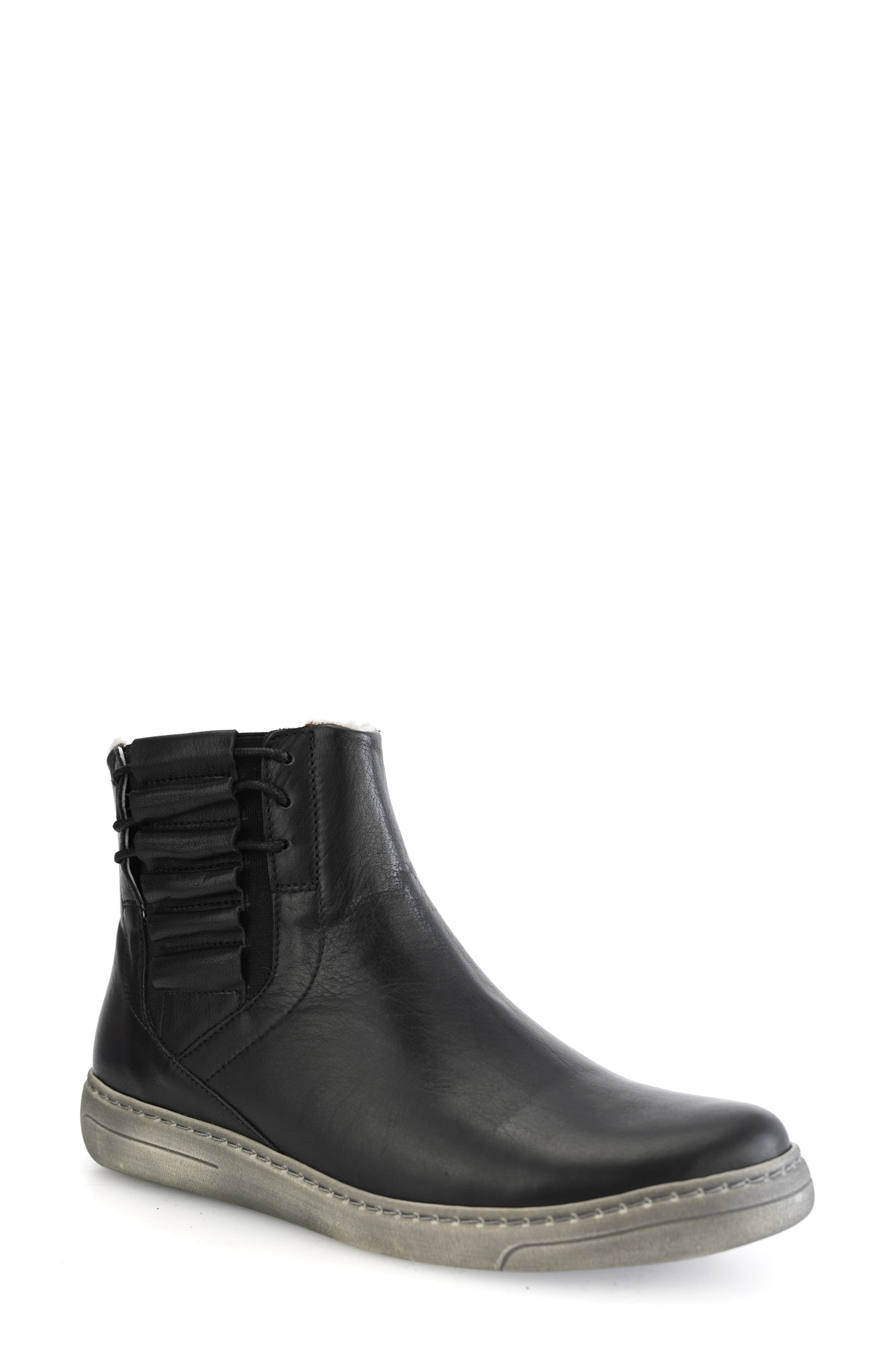 Fern Wool Lined Leather Boot