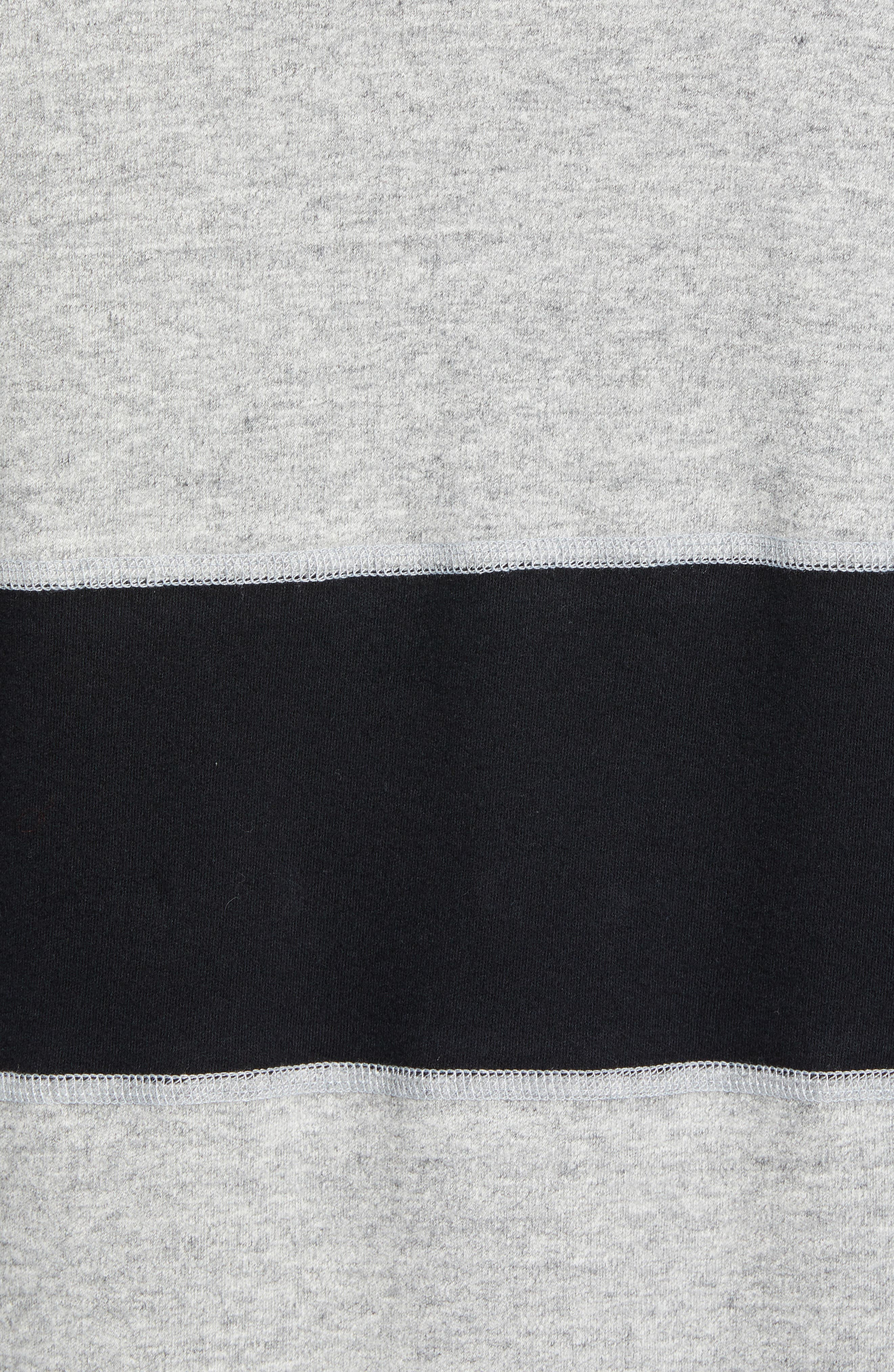 ,                             Rugby Crewneck Sweatshirt,                             Alternate thumbnail 5, color,                             MEDIUM GREY/ BLACK