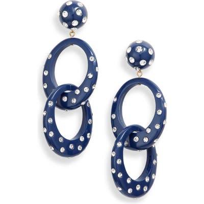 Lele Sadoughi Interlocking Hoop Earrings