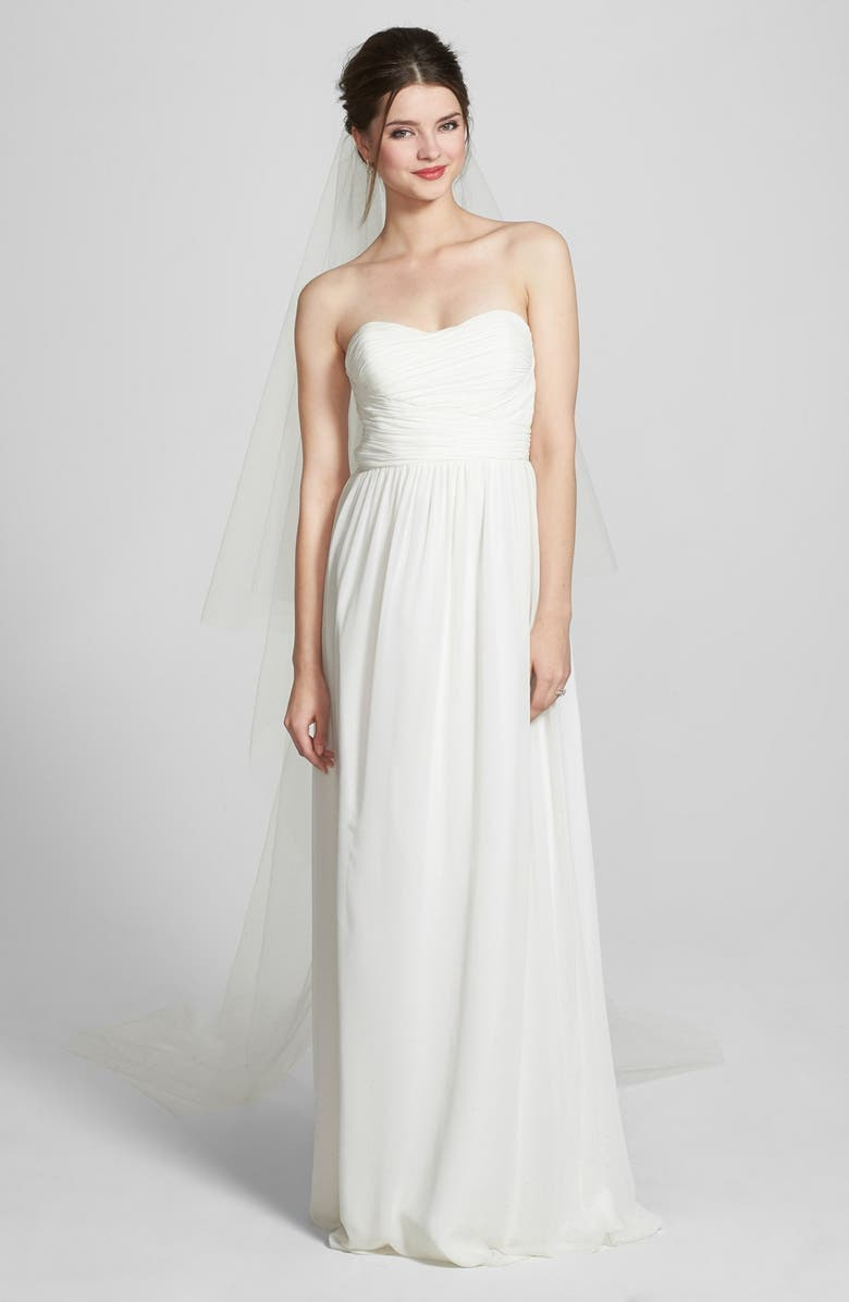 WEDDING BELLES NEW YORK Two-Tier Cathedral Veil, Main, color, WHITE