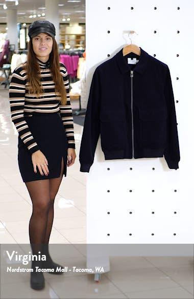 Harrington Slim Fit Zip-Up Corduroy Jacket, sales video thumbnail