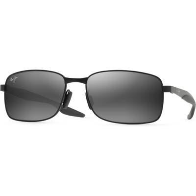 Maui Jim Shoal 57mm Polarized Sunglasses - Black
