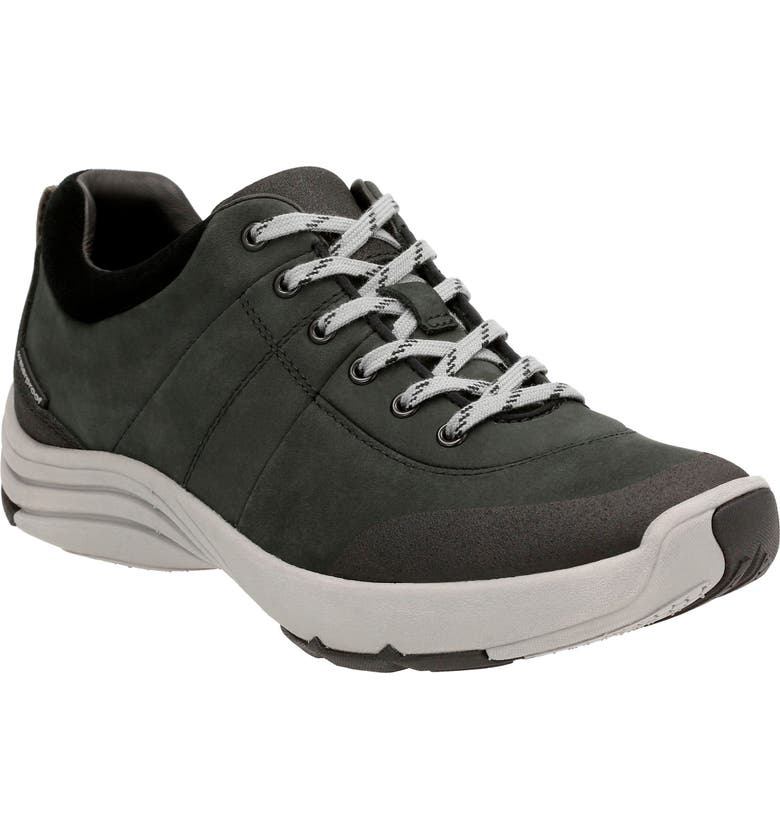 CLARKS<SUP>®</SUP> Wave Andes Sneaker, Main, color, BLACK NUBUCK LEATHER