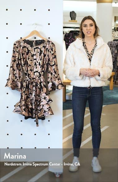 Marissa Metallic Floral Fil Coupé Minidress, sales video thumbnail
