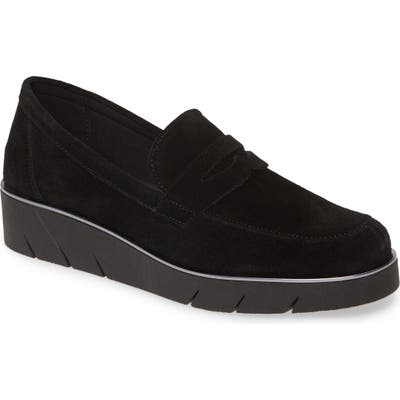 The Flexx Harrow Wedge Loafer- Black