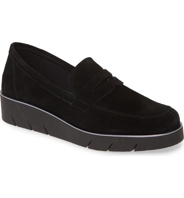 THE FLEXX Harrow Wedge Loafer, Main, color, BLACK SUEDE