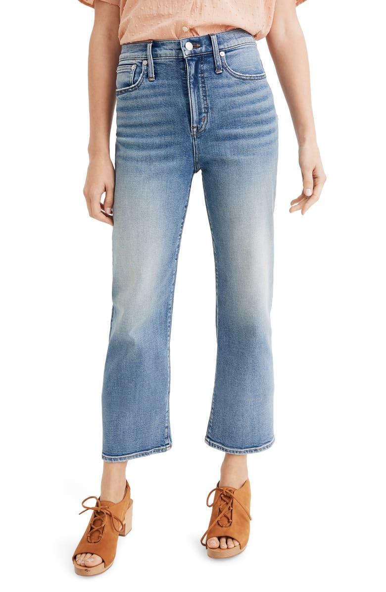 MADEWELL Slim Wide Leg Crop Jeans, Main, color, REGGIE