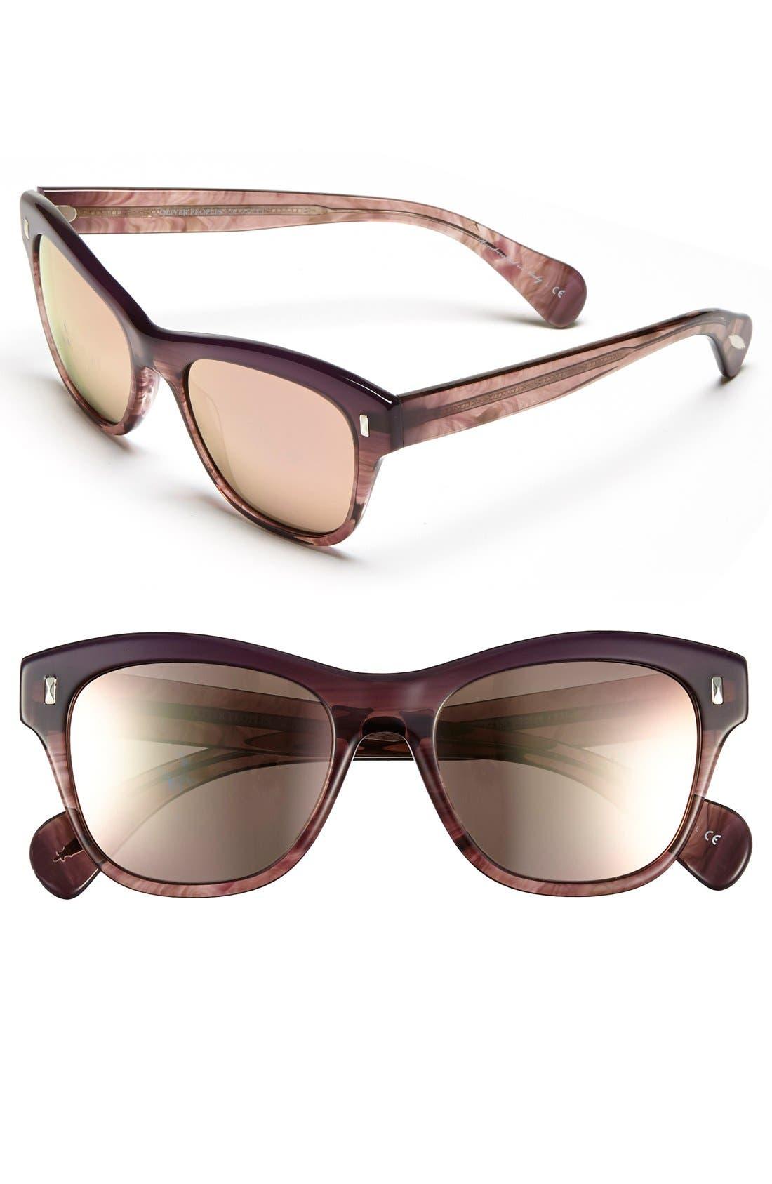,                             'Sofee' 53mm Retro Sunglasses,                             Main thumbnail 2, color,                             500