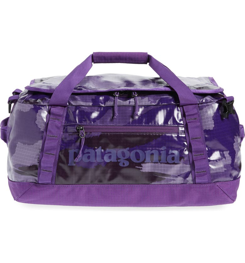 PATAGONIA Black Hole Water Repellent 40-Liter Duffle Bag, Main, color, HOME PLANET PITON PURPLE-HPPP