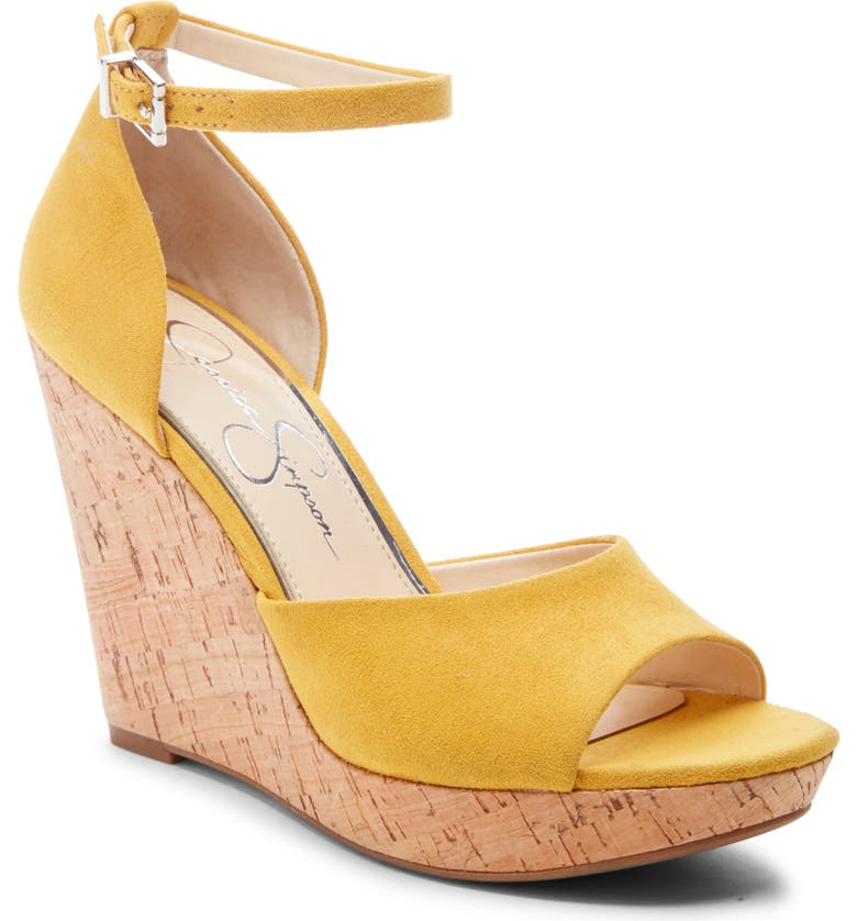 JESSICA SIMPSON Jarella Platform Wedge Sandal, Main, color, SUNFLOWER
