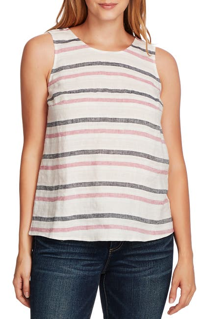 Image of Vince Camuto Canyon Stripe Linen Tank