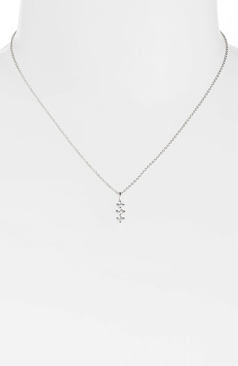 NADRI Issa Cubic Zirconia Pendant Necklace, Main, color, RHODIUM