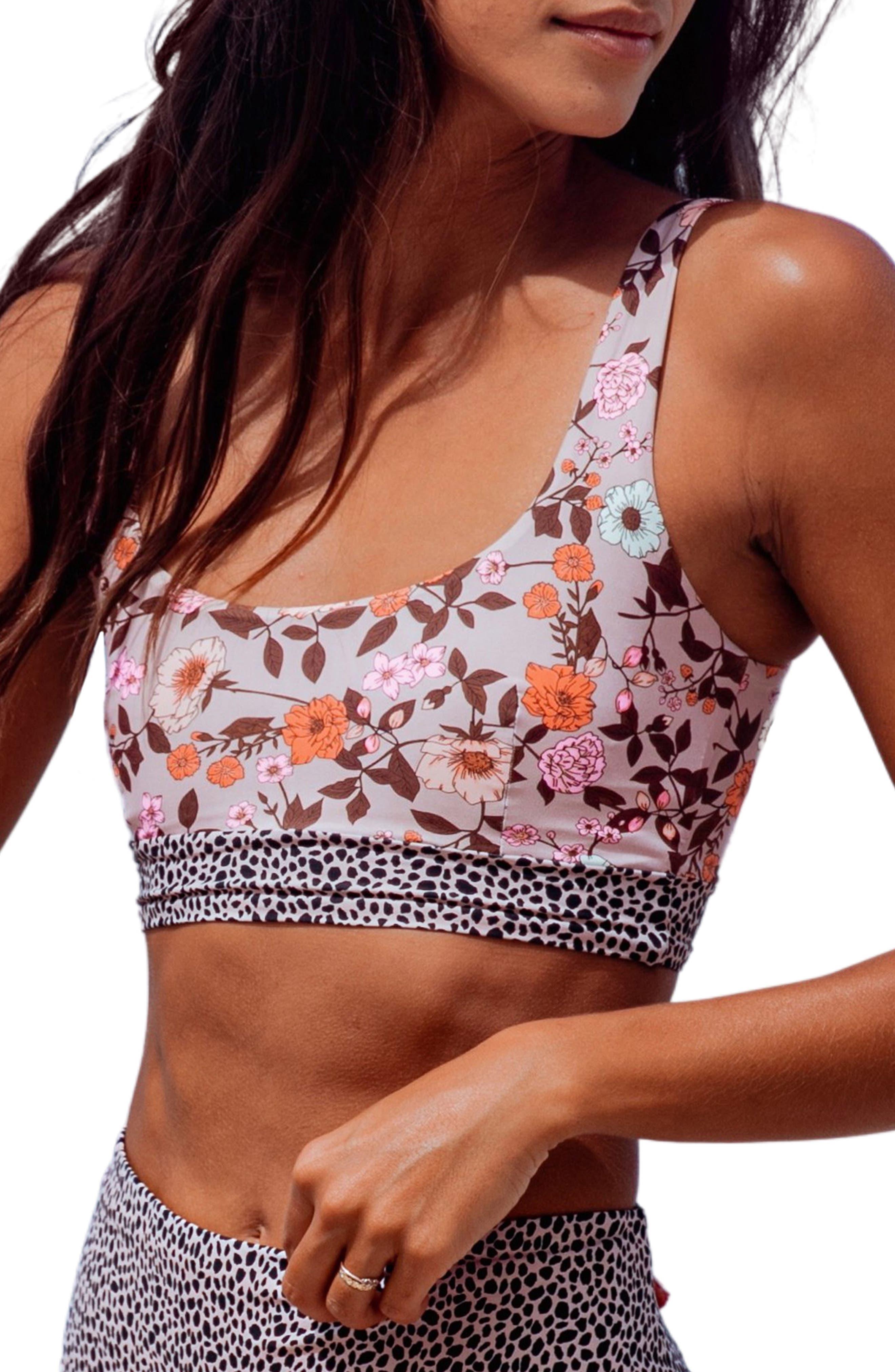 Rose Reversible Lace-Up Bikini Top