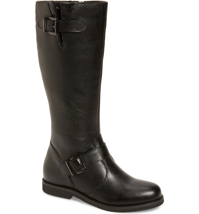 DAVID TATE Alpine Knee High Boot, Main, color, BLACK LEATHER