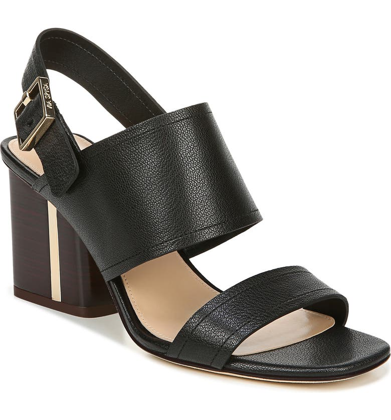 VIA SPIGA Harriett Sandal, Main, color, BLACK LEATHER