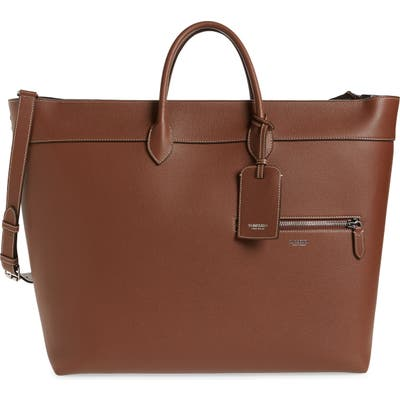 Burberry Sanford Leather Tote - Brown